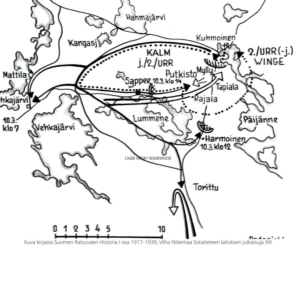 Sotatoimet Kuhmoisten edustalla, Kuhmoisten taistelun kulku 10.3.1918