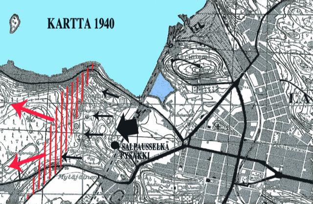 Salpausselän kukkulat olivat sodan 1918 taistelualueena.