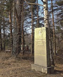 Anianpellon taistelu, Vapaussodan muistomerkki.