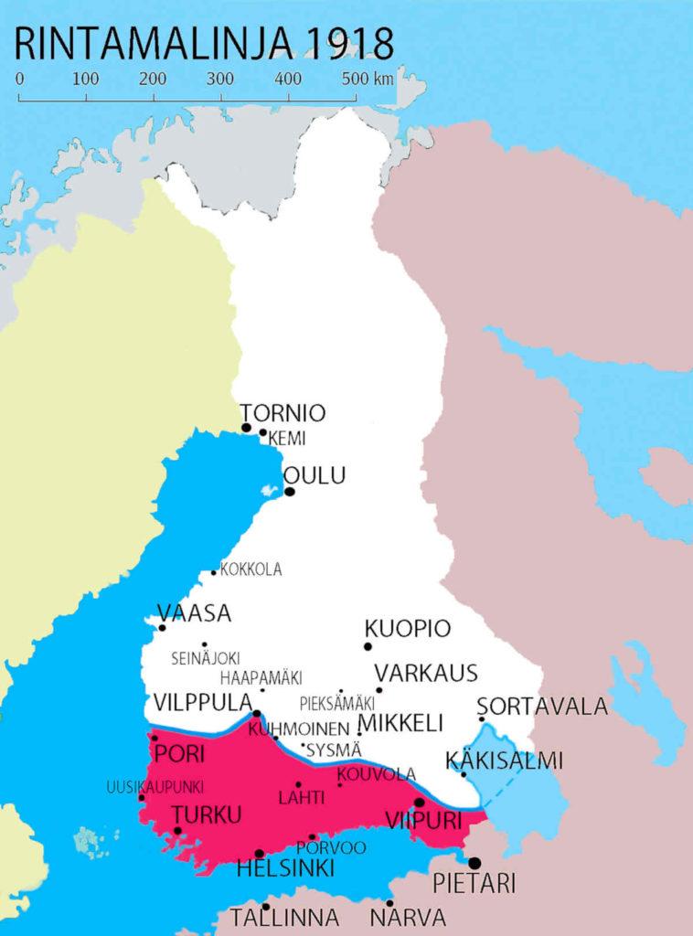 Suomi jakautui kahtia talvella 1918. Punaisiin ja valkoisiin.